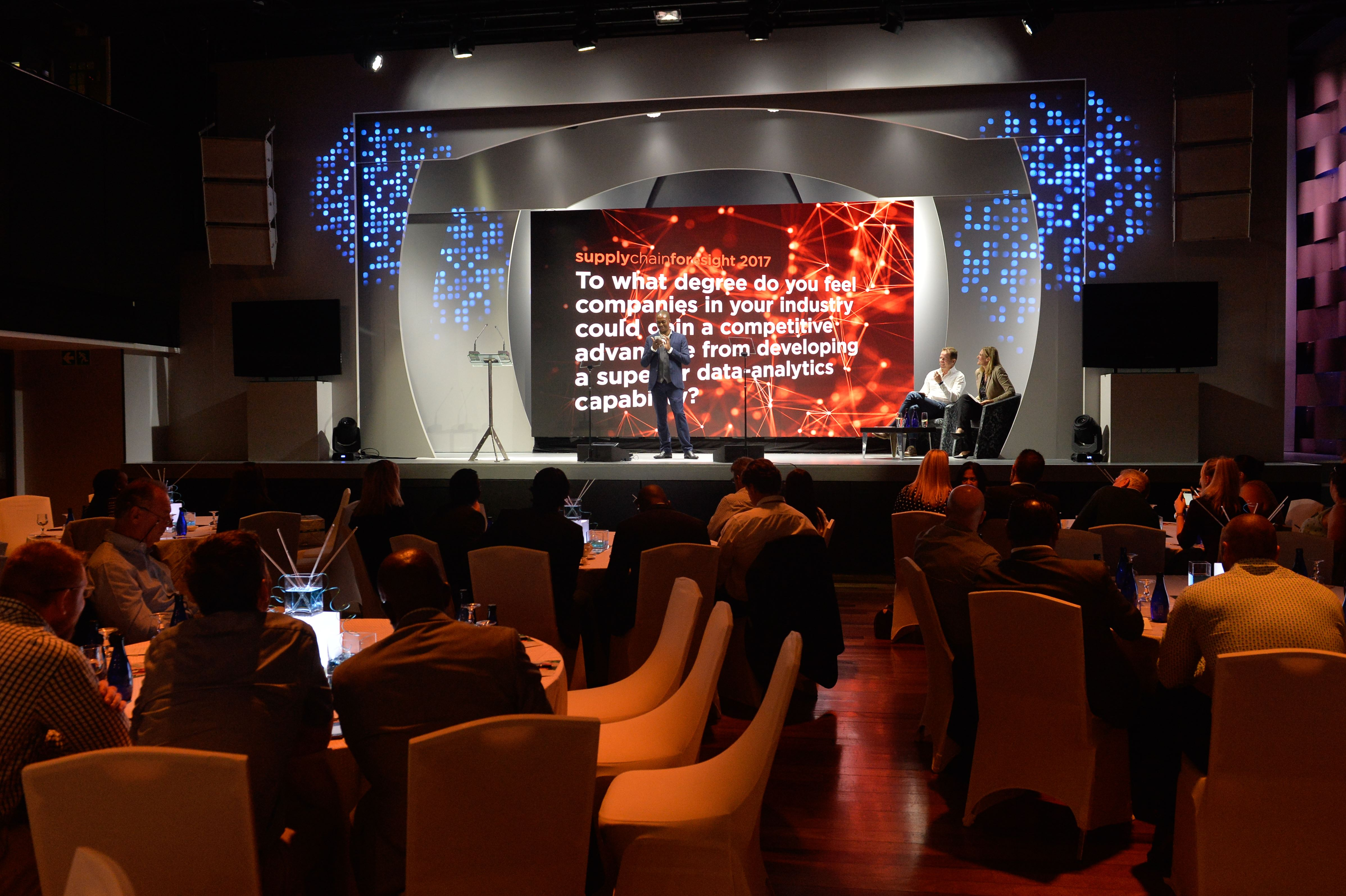 Baraloworld Logistics supplychainforesight stage and screen background